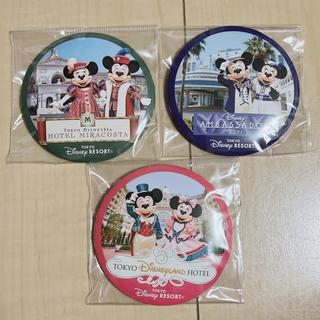 Disney - 新品 ディズニーオフィシャルホテル 缶バッジ ミッキー ミニー 三点セット