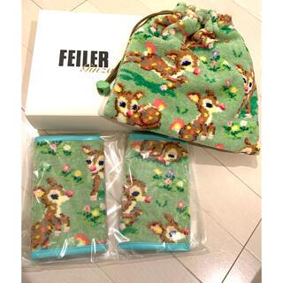フェイラー(FEILER)の【未使用品箱あり】フェイラー バンビ柄 巾着と抱っこ紐カバー(その他)