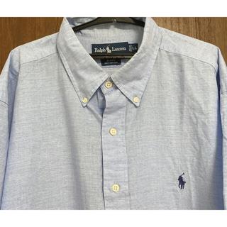 ラルフローレン(Ralph Lauren)のRalph lauren ラルフローレン シャツ XL ゆるダボ 薄青 (シャツ)