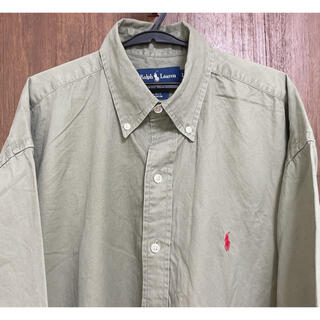 ラルフローレン(Ralph Lauren)のRalph lauren ラルフローレン シャツ 薄緑 カーキー L ゆるダボ (シャツ)