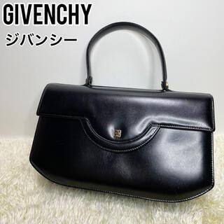 GIVENCHY - 美品 GIVENCHY ジバンシー ハンドバッグ レザー ブラック ゴールド金具