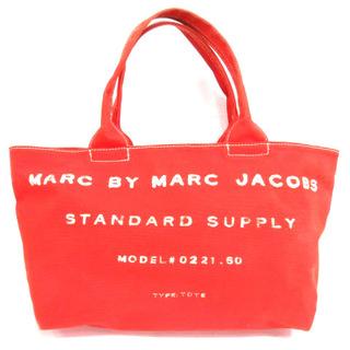 マークバイマークジェイコブス(MARC BY MARC JACOBS)のマークバイマークジェイコブス トートバッグ キャンバス プリント レッド(トートバッグ)