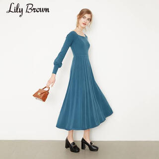 リリーブラウン(Lily Brown)のリリーブラウン ニットロングワンピース(ロングワンピース/マキシワンピース)