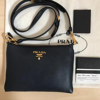 PRADA - 極美品 PRADA プラダ ショルダーバッグ ミニバッグ ネイビー