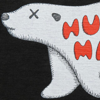 A BATHING APE - HUMAN MADE カウズ Tシャツ T-SHIRT KAWS #7 黒 L