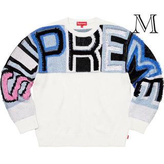 シュプリーム Chenille Logo Sweater