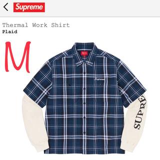 "Supreme - Supreme Thermal Work Shirt ""Plaid"" M"