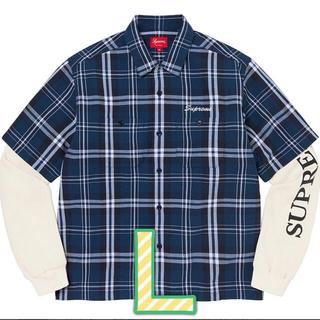 シュプリーム(Supreme)のsupreme Thermal Work Shirt サーマル ワークシャツ L(シャツ)