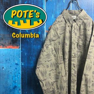Columbia - 【コロンビア】フィッシュ柄フィッシングツール柄ロゴタグ総柄フィッシングシャツ