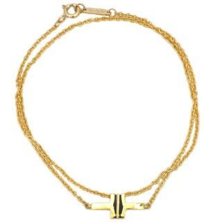 ティファニー(Tiffany & Co.)のティファニー ダブルチェーン ブレスレット YG T(ブレスレット)