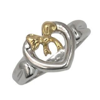 ティファニー(Tiffany & Co.)のティファニー 指輪 シルバー イエローゴールド YG(リング(指輪))