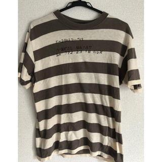 ウエアハウス(WAREHOUSE)の美品 ウェアハウス WAREHOUSE ボーダー ステンシル 囚人 Tシャツ(Tシャツ/カットソー(半袖/袖なし))