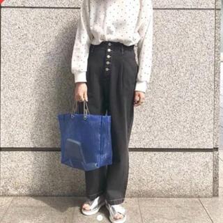 カスタネ(Kastane)の【新品】Kastane シアーストライプバック ブルー(トートバッグ)