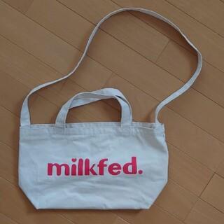 ミルクフェド(MILKFED.)のMILKFED./ミルクフェド 2WAYショルダーミニトートバッグ 80'sロゴ(トートバッグ)