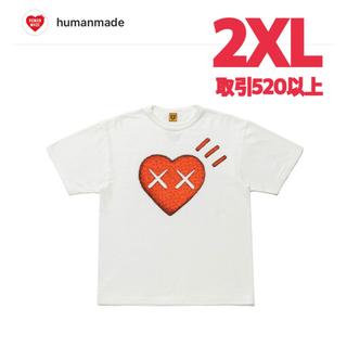 HUMAN MADE KAWS HEART TEE WHITE #6 2XL