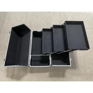 メイクボックス アルミケース 小物入れ 化粧道具入れ(メイクボックス)