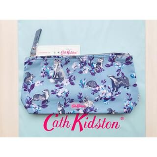 キャスキッドソン(Cath Kidston)の【新品未使用】マットジップ メイクアップバッグ ミニバッジャーズ&フレンズ(ポーチ)