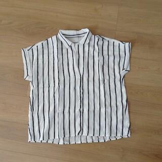 ヴィス(ViS)のシャツ ボーダー 白 しましま vis jun ストライプ(Tシャツ(半袖/袖なし))