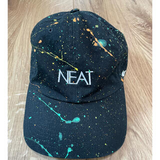 【美品】NEAT ペイント キャップ ブラック UA別注
