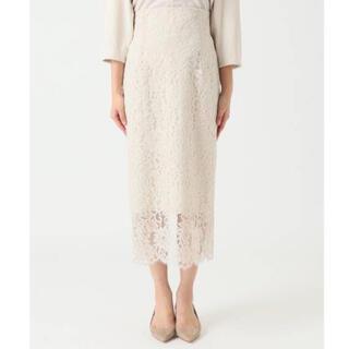 Noble - NOBLE リバーレース Iラインスカート