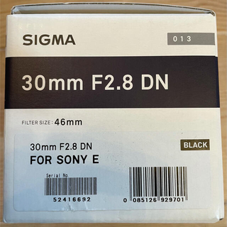SIGMA 単焦点レンズ Art 30mm F2.8 DN  929701 ソニ