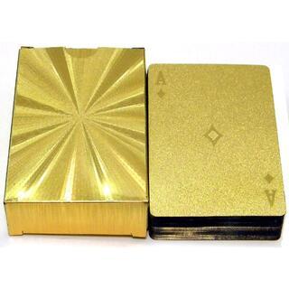 トランプ [GOLD]刻印加工 カーボン調 / プラスチック素材(トランプ/UNO)