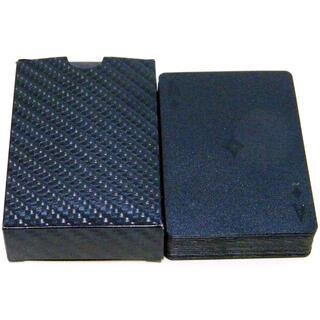 トランプ [BLACK]刻印加工 カーボン調 / プラスチック素材(トランプ/UNO)