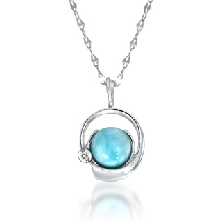 STAR JEWELRY - スタージュエリー K18 ネックレス  OCEANIC ラリマー ダイヤモンド