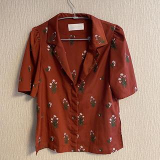 mame - mame ブラウス 刺繍 半袖