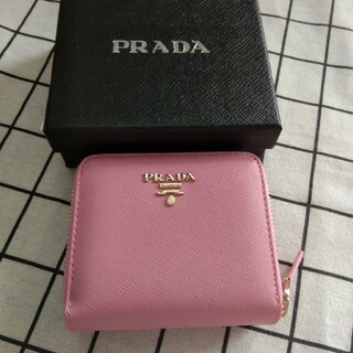 PRADA - 超美品❥二つ折り財布❥コインケース❥小銭入れ カード入れ prada ピンク