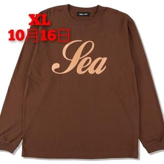 SEA - SEA (GLITTER) L/S TEE / BROWN (CS-307)