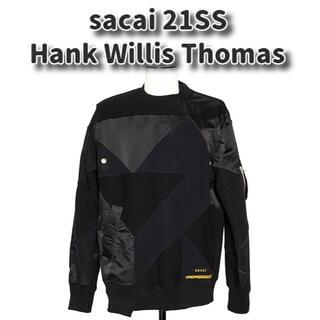 sacai - sacai 21SS スポンジ スウェット× MA-1 ブラック サイズ3