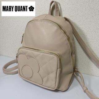 マリークワント(MARY QUANT)の美品 MARY QUANT マリークワント リュック フェイクレザー デイジー(リュック/バックパック)