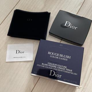 Christian Dior - 新品 限定色 ディオールスキン ルージュ ブラッシュ 431 ピーチバレー