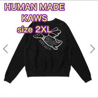 シュプリーム(Supreme)のHUMAN MADE×KAWS ヒューマンメイド カウズ スウェット2XL(スウェット)