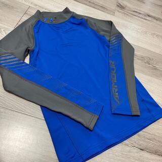 アンダーアーマー(UNDER ARMOUR)の美品 ジュニア アンダーアーマー長袖 インナー YLG ブルー(Tシャツ/カットソー)