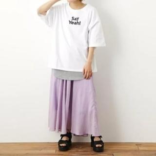 ロデオクラウンズワイドボウル(RODEO CROWNS WIDE BOWL)の中古 メッセージTシャツタンクセット※Tシャツのみ(Tシャツ(半袖/袖なし))