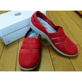 クラークス(Clarks)の新品大人気Clarksクラークスサンダルスリッポン23cm靴シューズレッドスニー(サンダル)