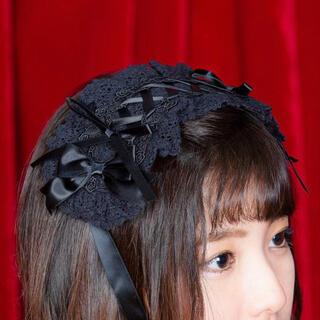 ボディライン(BODYLINE)のヘッドドレス 黒 ハロウィン コスプレ ゴスロリ ロリータ BODYLINE(その他)