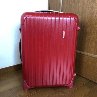 リモワ(RIMOWA)の即決 RIMOWA リモワ 2輪 スーツケース レッド 機内持ち込み(トラベルバッグ/スーツケース)