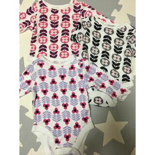 オールドネイビー(Old Navy)の新生児3枚セットオールドネイビー肌着ロンパース(ロンパース)