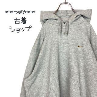 ナイキ(NIKE)の【ゴールド刺繍】NIKE パーカー 古着 ビックサイズ 霜降りグレー 90s(パーカー)