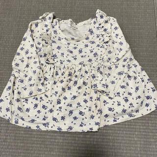 フタフタ(futafuta)のバースデー 花柄Tシャツ 80センチ(Tシャツ)