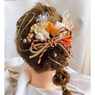 ドライフラワー髪飾り 成人式、結婚式、卒業式 21