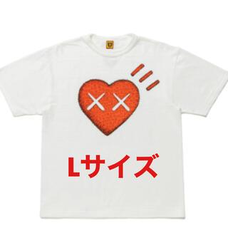 Human made kawsコラボT ホワイトLサイズ(Tシャツ/カットソー(半袖/袖なし))