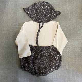 フタフタ(futafuta)の無地Tシャツ、帽子、ブルマ3点セット(Tシャツ)