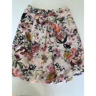 エムズグレイシー(M'S GRACY)のエムズグレイシー  花柄バルーンスカート(ひざ丈スカート)