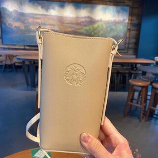 スターバックスコーヒー(Starbucks Coffee)の【スターバックス海外限定】日本未発売 定期入れ ショルダーバック ベージュ(ショルダーバッグ)