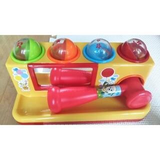 ジョイパレット(ジョイパレット)のにぎってトントン!コロリンボール おもちゃ ワンワンとうーたん ハンマー(知育玩具)