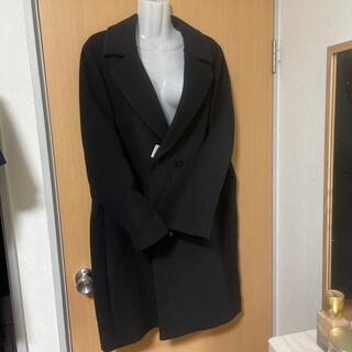 ユニクロ(UNIQLO)の新品 ユニクロ テラード コート 黒 XL ライトウール(チェスターコート)